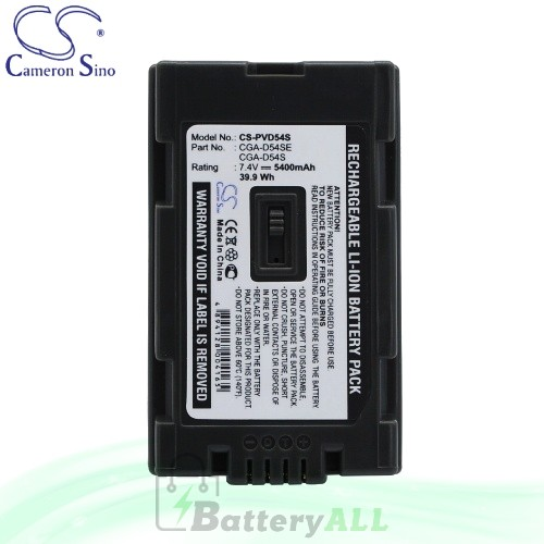 CS Battery for Panasonic NV-MX5 / NV-MX500 / NV-MX500EG Battery 5400mah CA-PVD54S