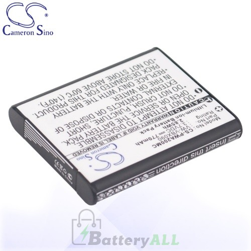 CS Battery for Panasonic VW-VBX090 / HX-WA03 / HX-WA03H Battery 770mah CA-PWA200MC