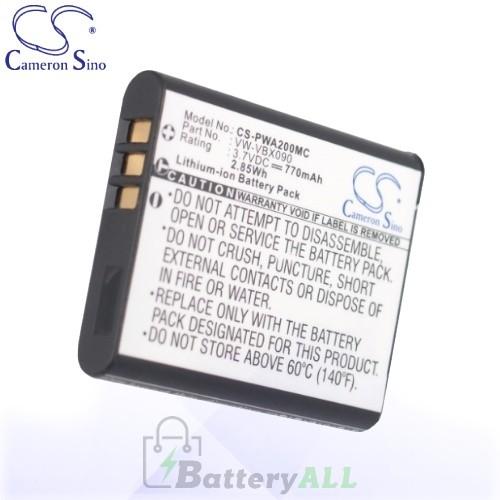 CS Battery for Panasonic HX-WA30GK / HX-WA30K / HX-WA30W Battery 770mah CA-PWA200MC