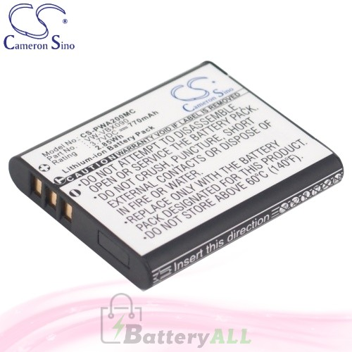 CS Battery for Panasonic HX-WA2D / HX-WA03W / HX-WA3GK Battery 770mah CA-PWA200MC