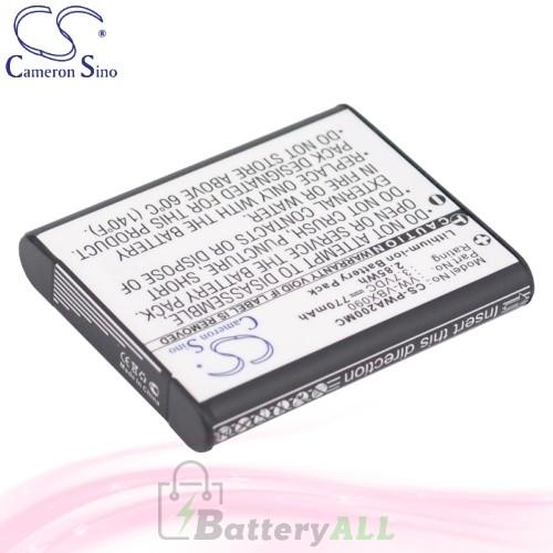 CS Battery for Panasonic HX-WA3 / HX-WA20 / HX-WA20H Battery 770mah CA-PWA200MC
