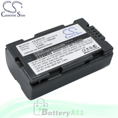 CS Battery for Panasonic PV-DV200K / PV-DV400 / PV-DV400K Battery 750mah CA-SPD110