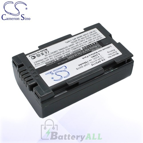 CS Battery for Panasonic AG-DVC15 / AG-DVX100BE / AJ-PCS060G Battery 750mah CA-SPD110