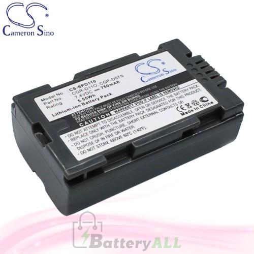 CS Battery for Panasonic NV-DS3 / NV-DS8 / NV-DS11EN Battery 750mah CA-SPD110