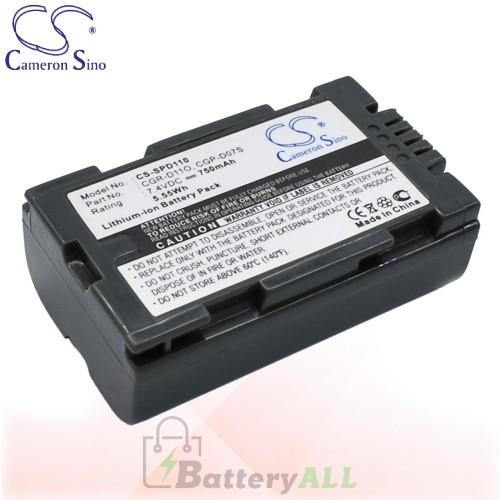 CS Battery for Panasonic NV-EX1B / NVEX3 / NV-EX3 / NV-GS1B Battery 750mah CA-SPD110