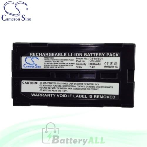 CS Battery for Panasonic NV-GS55B / NV-GS58GK / NV-GS58GK-S Battery 2000mah CA-SVBD1