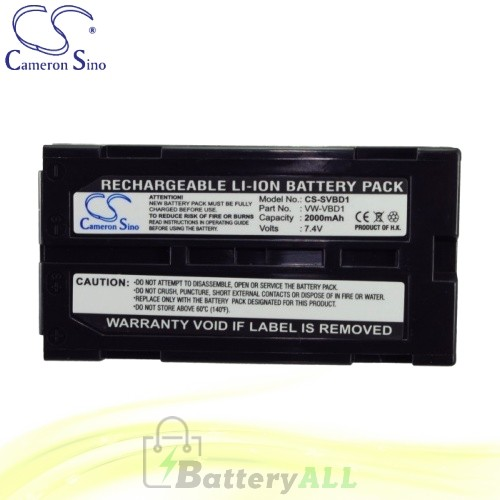 CS Battery for Panasonic NV-GS140EG-S / NV-GS140E-S Battery 2000mah CA-SVBD1