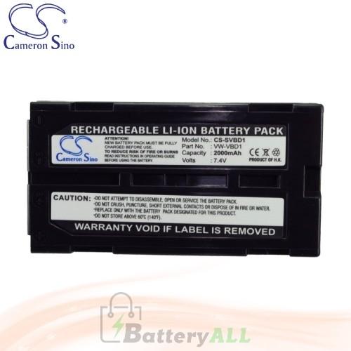 CS Battery for Panasonic NV-GS180 / NV-GS188GK / NV-GS188GK-S Battery 2000mah CA-SVBD1