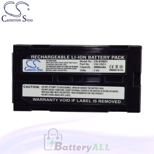CS Battery for Panasonic NV-GS320EB-S / NV-GS320EG-S Battery 2000mah CA-SVBD1