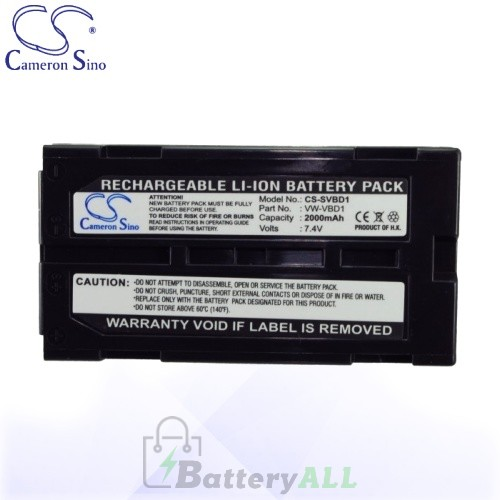 CS Battery for Panasonic VW-VBD2 / Panasonic NV-GS10EG-A Battery 2000mah CA-SVBD1