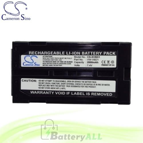 CS Battery for Panasonic NV-GS500E-S / NV-GS508GK-S / PV-GS19 Battery 2000mah CA-SVBD1
