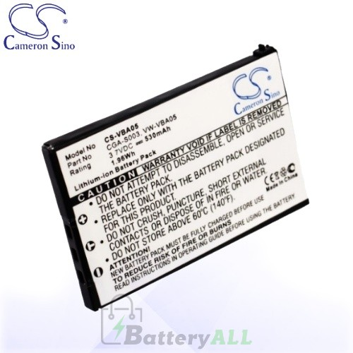CS Battery for Panasonic SV-AS10-R / SV-AS10-S / SV-AS10-T Battery 530mah CA-VBA05