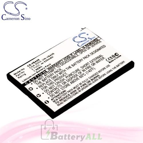 CS Battery for Panasonic SV-AS10-W / SV-AS30 / SV-AV50EG-A Battery 530mah CA-VBA05