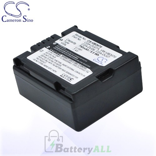 CS Battery for Panasonic CGA-DU06 / CGA-DU07 / CGA-DU07A Battery 750mah CA-VBD070