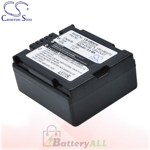 CS Battery for Panasonic NV-GS200K / NV-GS230 / NV-GS230EB-S Battery 750mah CA-VBD070