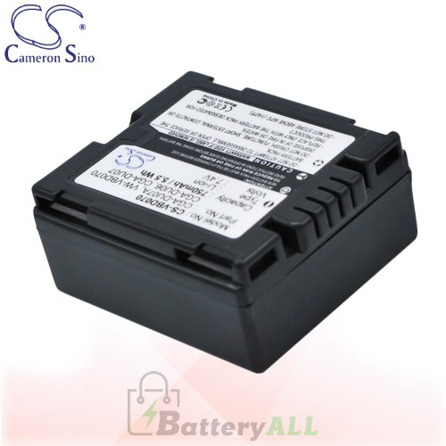 CS Battery for Panasonic NV-GS280EB-S / NV-GS280EG-S Battery 750mah CA-VBD070