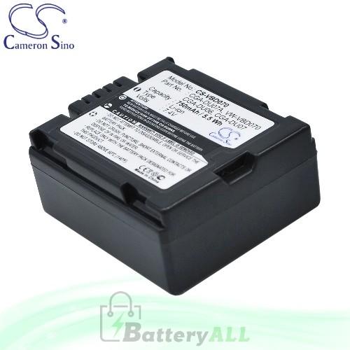 CS Battery for Panasonic NV-GS320EG-S / NV-GS320E-S / NV-GS17 Battery 750mah CA-VBD070