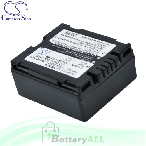 CS Battery for Panasonic NV-GS500EG-S / NV-GS60 / NV-GS60EB-S Battery 750mah CA-VBD070