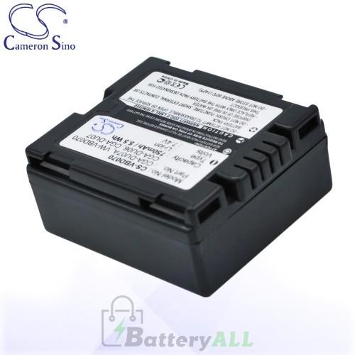 CS Battery for Panasonic CGR-DU07 / VW-VBD070 / CGA-DU06A/1B Battery 750mah CA-VBD070