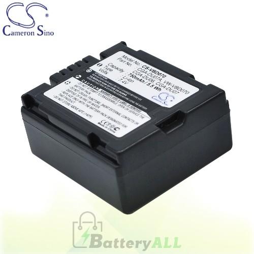 CS Battery for Panasonic NV-GS120B / NV-GS120EG-S / NV-GS250B Battery 750mah CA-VBD070