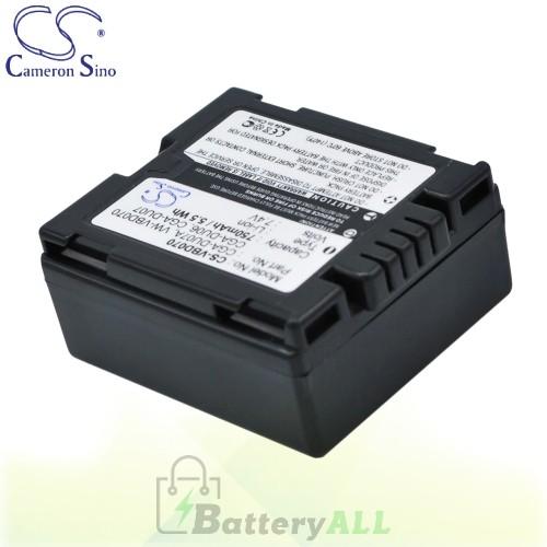 CS Battery for Panasonic NV-GS120GN / NV-GS120GN-S / NV-GS30B Battery 750mah CA-VBD070
