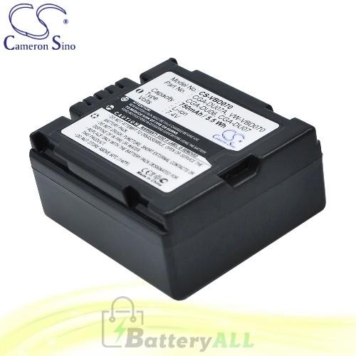 CS Battery for Panasonic NV-GS158GK / NV-GS17E-S / NV-GS26GK Battery 750mah CA-VBD070