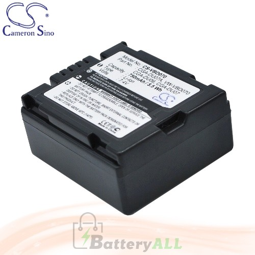 CS Battery for Panasonic NV-GS22 / NV-GS22EG-A / NV-GS22EG-S Battery 750mah CA-VBD070