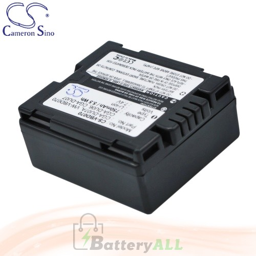 CS Battery for Panasonic NV-GS230EG-S / NV-GS230E-S / NV-GS44 Battery 750mah CA-VBD070