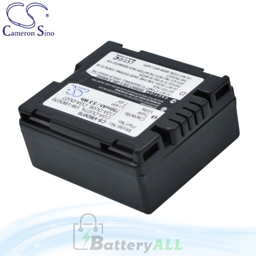 CS Battery for Panasonic NV-GS330 / NV-GS33EG-S / NV-GS50B Battery 750mah CA-VBD070