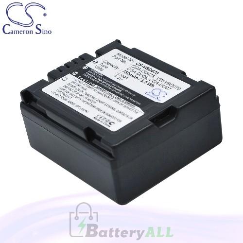 CS Battery for Panasonic NV-GS500E-S / NV-GS55 / NV-GS55B Battery 750mah CA-VBD070