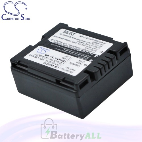 CS Battery for Panasonic NV-GS508GK / NV-GS508GK-S / NV-GS50V Battery 750mah CA-VBD070