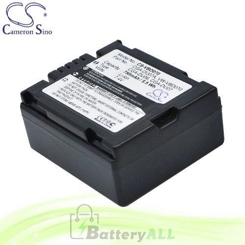 CS Battery for Panasonic NV-GS75 / NV-GS75B / NV-GS75EG-S Battery 750mah CA-VBD070