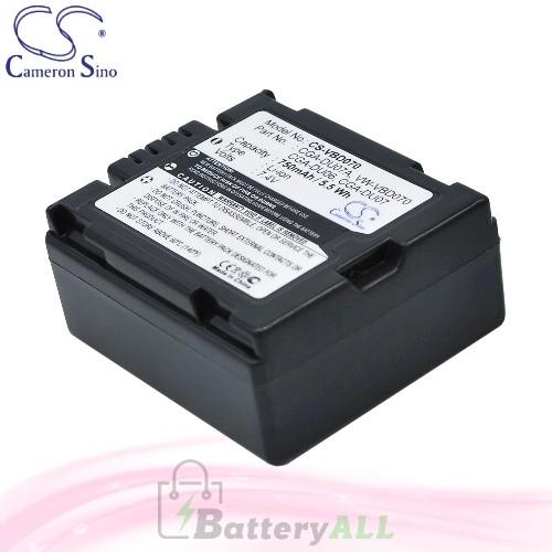 CS Battery for Panasonic NV-GS27EG-S / NV-GS37E-S / NV-GS10B Battery 750mah CA-VBD070