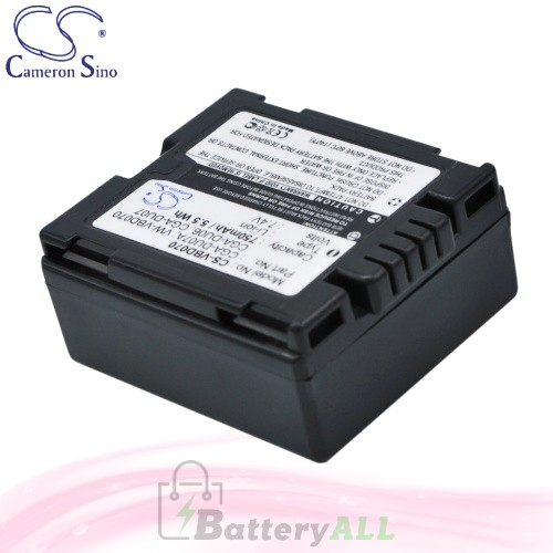 CS Battery for Panasonic NV-GS37EB-S / NV-GS37EG-S / NV-GS120 Battery 750mah CA-VBD070