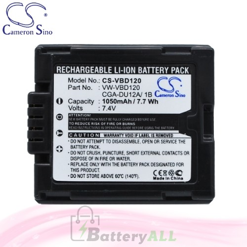 CS Battery for Panasonic DZ-MV730 / DZ-MV730E / DZ-MV750 Battery 1050mah CA-VBD120