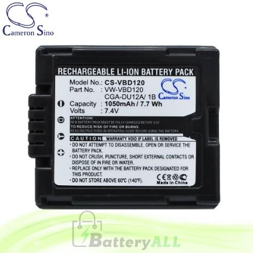 CS Battery for Panasonic VDR-M70 / VDR-M70B / VDR-M70EG-S Battery 1050mah CA-VBD120