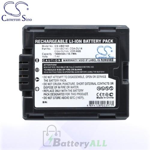CS Battery for Panasonic NV-GS180 / NV-GS200K / NV-GS230 Battery 1440mah CA-VBD140