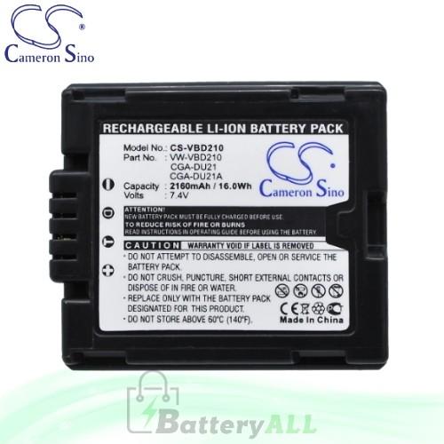 CS Battery for Panasonic SDR-H18 / SDR-H20 / SDR-H20EB-S Battery 2160mah CA-VBD210