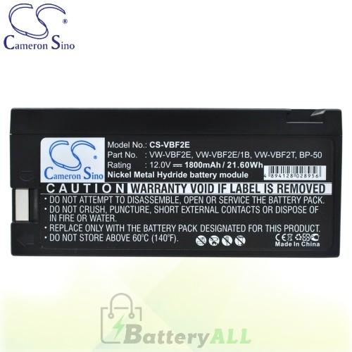 CS Battery for Panasonic PV602 / PV602D / PV604 / PV610D Battery 1800mah CA-VBF2E