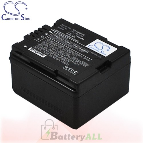 CS Battery for Panasonic VDR-D220 / VDR-D230 / VDR-D310 Battery 750mah CA-VBG070