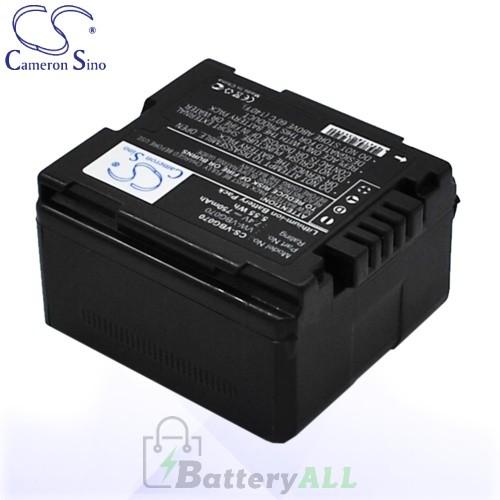 CS Battery for Panasonic HDC-HS9 / HDC-HS100 / GS98GK Battery 750mah CA-VBG070