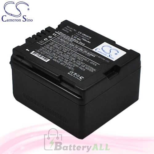 CS Battery for Panasonic PV-GS320 / PV-GS500 / PV-GS80 Battery 750mah CA-VBG070