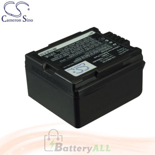 CS Battery for Panasonic HDC-TM750 / HDC-TMT750GK / NV-GS330 Battery 1320mah CA-VBG130