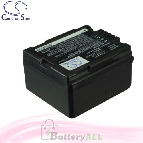 CS Battery for Panasonic H48 / H68GK / H288GK / HDC-DX3 Battery 1320mah CA-VBG130