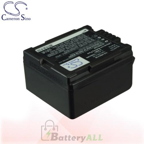 CS Battery for Panasonic HDC-HS300PC / HDC-HS350 / HDC-HS700 Battery 1320mah CA-VBG130