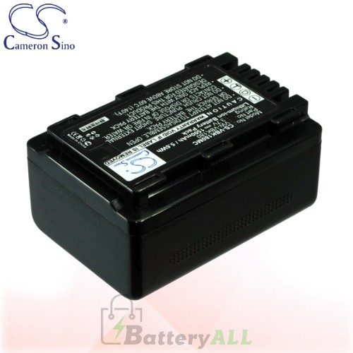 CS Battery for Panasonic HC-V500MK / HC-V600M / HC-V700 Battery 1500mah CA-VBK180MC