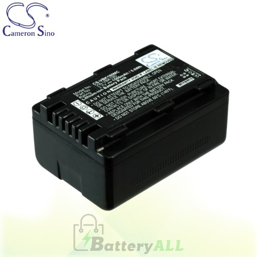 CS Battery for Panasonic HDC-SD80P / HDC-SD80PC / HDC-SDX1 Battery 1500mah CA-VBK180MC