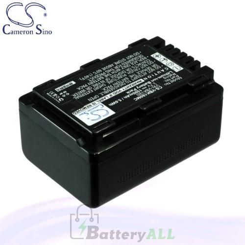 CS Battery for Panasonic SDR-H100PC / SDR-S45 / SDR-H101GK Battery 1500mah CA-VBK180MC