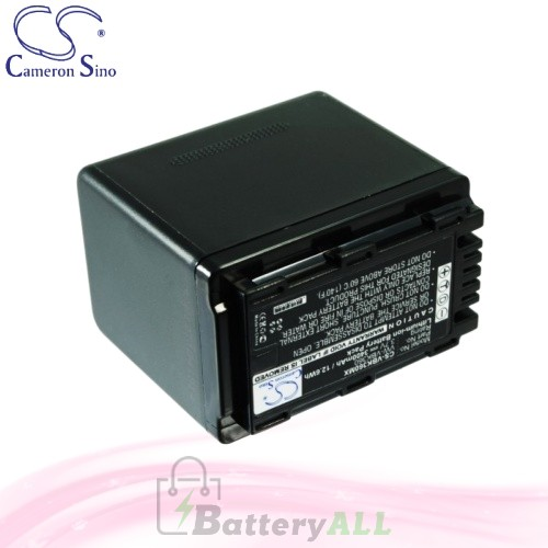 CS Battery for Panasonic SDR-H85S / SDR-S50 / SDR-S50A Battery 3400mah CA-VBK360MX