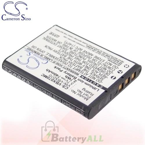 CS Battery for Panasonic HX-WA10EB-A / HX-WA10EB-D Battery 740mah CA-VBX070MC